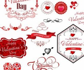 Valentine day label vector