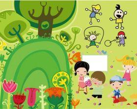 children illustrator cute vector
