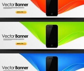 mobile banner design trend pattern vector