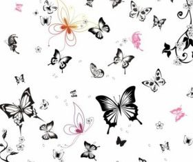 white butterfly set vector