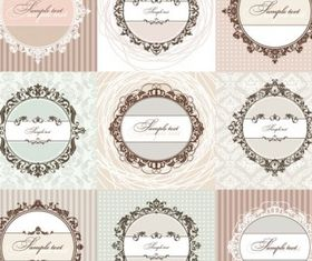 european pattern background 01 set vector
