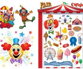 clowns carnival vector