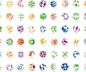 Abstract Sphere Logotypes vector graphics