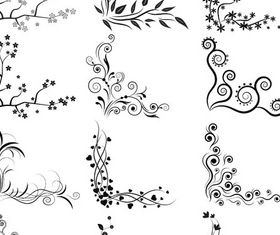 Ornamental Vintage Corners 6 vector design