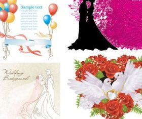 wedding theme vector