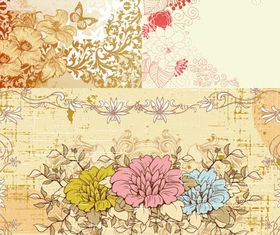 Stylish Floral Backgrounds vector graphic
