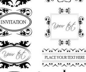 Vintage Frames Set vector graphics