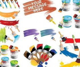 Paint theme vector design