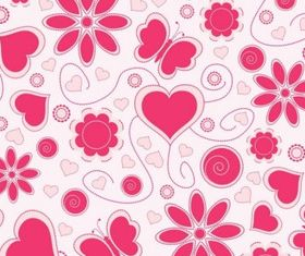 Love Pattern Background vector graphics