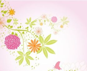 Spring flower background vector graphics