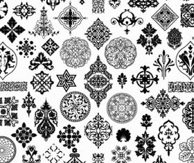 exquisite classic traditional pattern vectors graphic