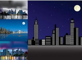 night city under art vector