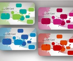 Beautiful Gift Card Illustrations vector