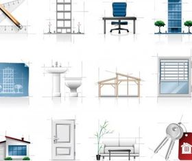 interior architectural sketches icon vector
