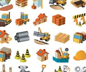 architectural theme icon vector graphics