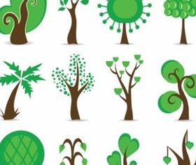 Tree Symbols Graphic vector