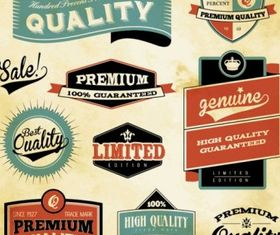 retro label design set vector