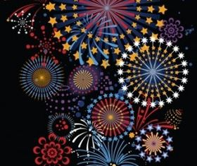 brilliant fireworks vector