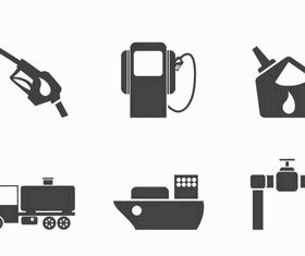 Petroleum industry Icons Illustration vector
