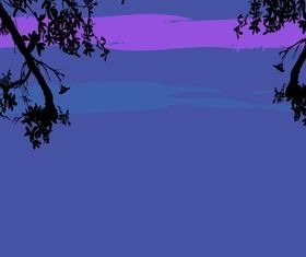 Night nature background vector