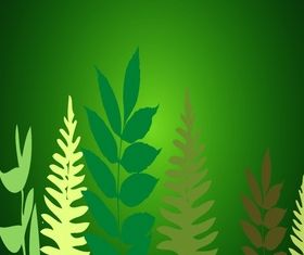Plant with green background shiny vector