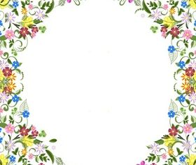 Flower frame beautiful design vector