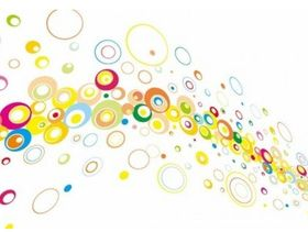 Colorful Circles Background Illustration vector