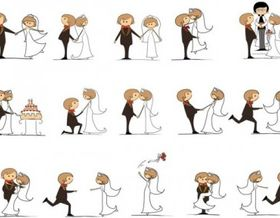 wedding cartoons design vector