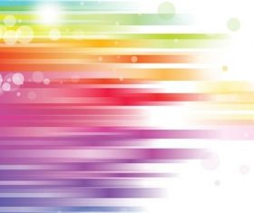 Abstract Rainbow Background vector set