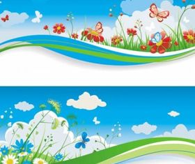 banner graphic art set vector