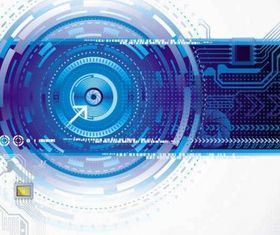 electronic technology background vector