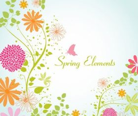 Spring flower vector material