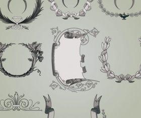 classic traditional pattern design vectors