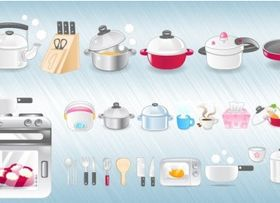 Kitchen Icons vector material