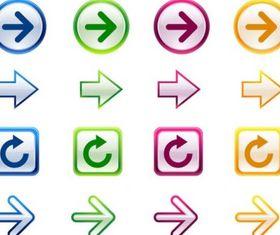fine arrow icon vectors material