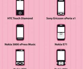 Phone icons vector graphics