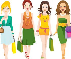 Women Set vector