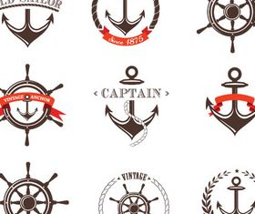 Stylish Sailor Labels vector