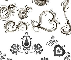 Floral Ornaments Elements 2 vector
