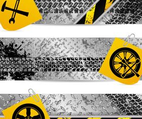 Bright Metal Banners vector