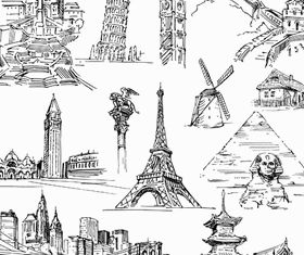 World Landmark Elements 2 vectors graphics