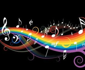 theme music notes vector graphics
