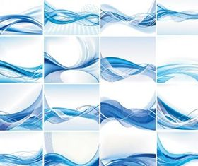 dynamic lines blue background vector