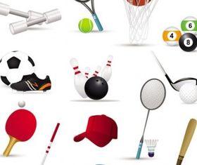sportsrelated icons 02 vectors
