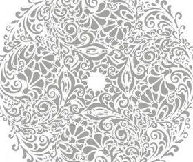 Floral Round Background Illustration vector set