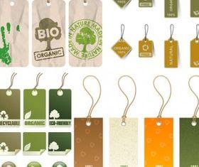 environmental tag creative vector