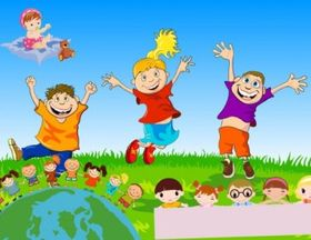 children theme vector