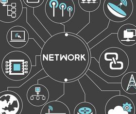 Network Backgrounds 5 design vector