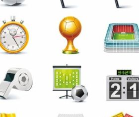 Football Match Icon set vector