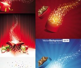 festive christmas gift background vectors